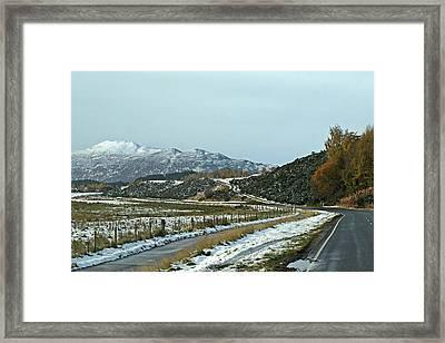 Empty Scottish Roads In The Highlands Framed Print