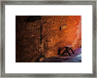 Empty Seat On A Hill Framed Print by Bob Orsillo