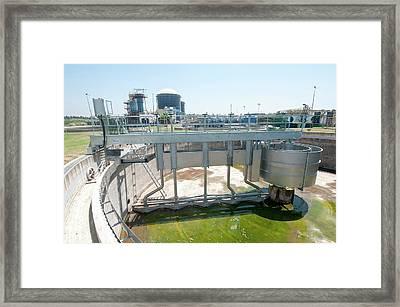 Empty Secondary Clarifier Framed Print by Photostock-israel