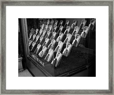 Empty Shirts Framed Print