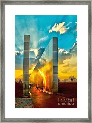 Empty Skies Sunset Framed Print by Nick Zelinsky