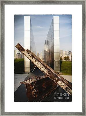 Empty Sky New Jersey September 11th Memorial Framed Print by George Oze