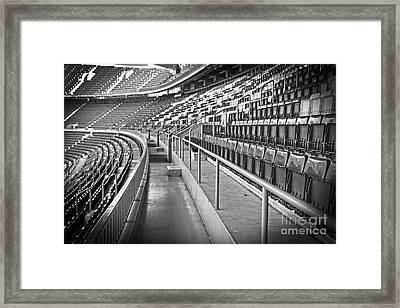 Empty Soccer Stadium Framed Print