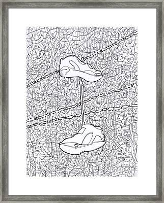 Empty Soles Framed Print