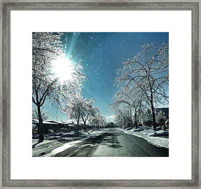 Empty Street In Winter Framed Print by Teresa Tagliacozzo / Eyeem
