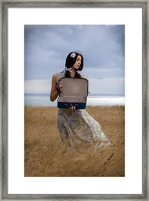Empty Suitcase Framed Print by Joana Kruse