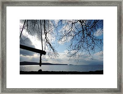 Empty Swing Framed Print by Karen Horn