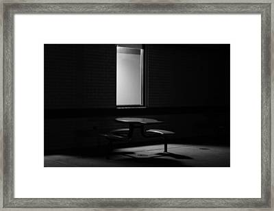 Empty Table Framed Print