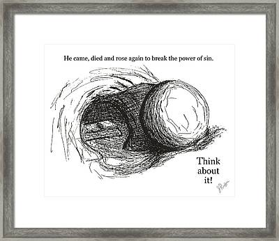 Empty Tomb Framed Print by Jerry Ruffin
