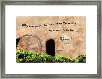 Empty Tomb - Luke 24 Framed Print