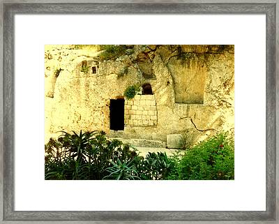 Empty Tomb Of Jesus Framed Print