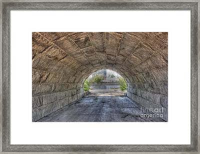 Empty Tunnel Framed Print