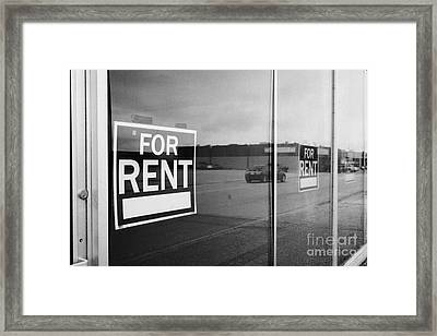 empty unused abandoned store on first avenue the town of leader sk Canada Framed Print by Joe Fox