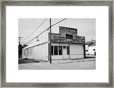 empty unused abandoned store on first street the town of leader sk Canada Framed Print