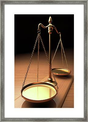 Empty Weighing Scales Framed Print by Ktsdesign