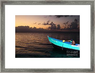 Emptying The Ocean Master Panama Framed Print by James Brunker