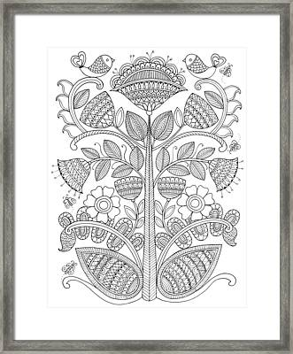 Emroidery Pattern 1 Framed Print by Neeti Goswami