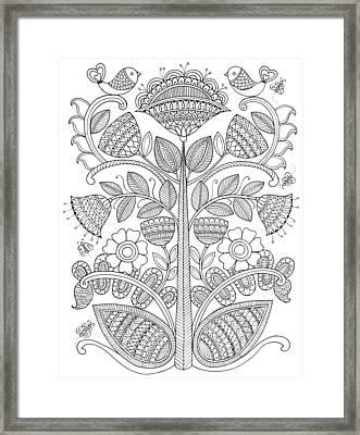 Emroidery Pattern 1 Framed Print