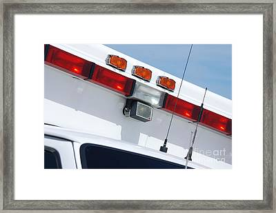 Ems Lightbar Framed Print by Steven Townsend