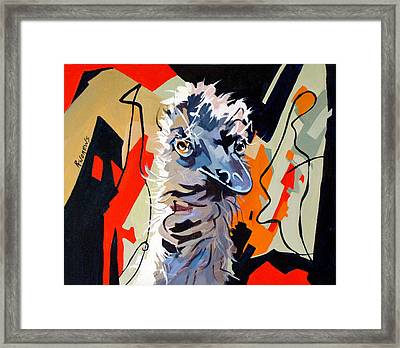 Emu Design In Acrylic Framed Print by Rae Andrews