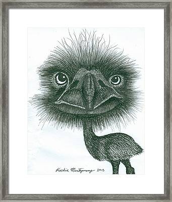 Emu Framed Print by Richie Montgomery