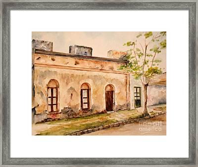 En Calle Belen Framed Print