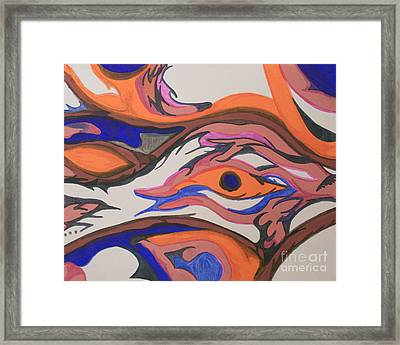 En Formation Framed Print