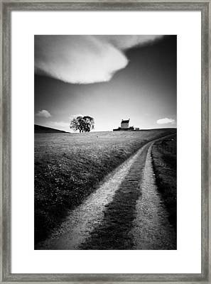 En Route To Corgarff Castle Framed Print by Dave Bowman