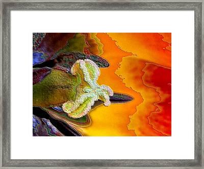 Enamel Tulip Framed Print