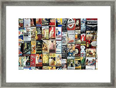 Enamelled Advertising Metal Signs Framed Print by Tim Gainey