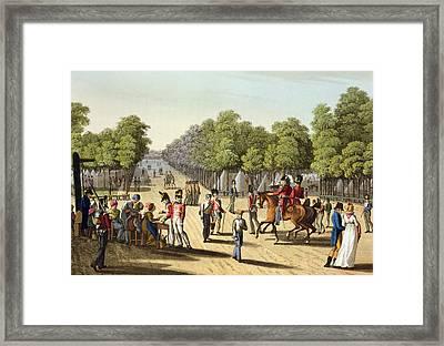 Encampment Of The British Army Framed Print by Franz Joseph Manskirch