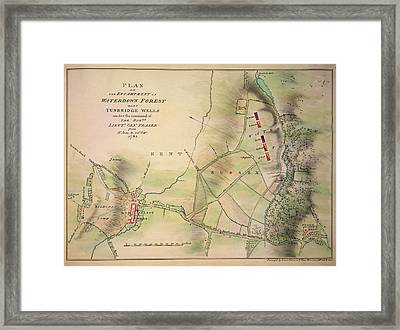 Encampment Of Waterdown Forest Framed Print