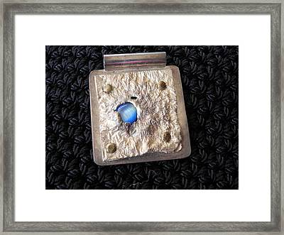 Encased Blue Stone Framed Print