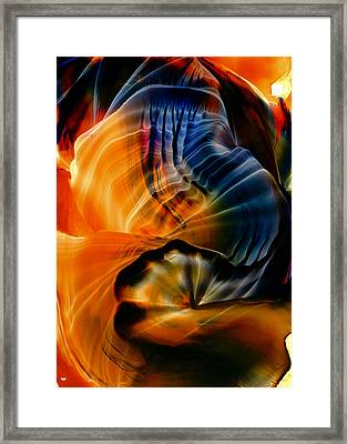 Encaustic 1381 Framed Print by Hakon Soreide
