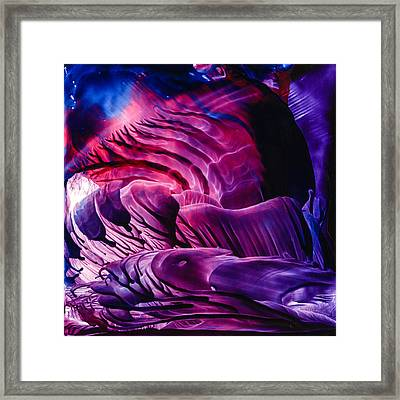Encaustic 827 Framed Print by Hakon Soreide