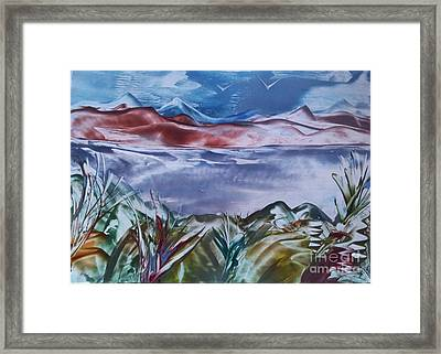 Encaustic Art 2 Framed Print by Debra Piro