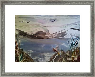 Encaustic Art Framed Print by Debra Piro