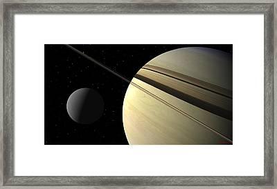 Enceladus Framed Print by David Robinson