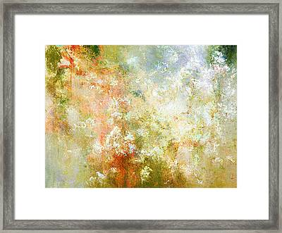 Enchanted Blossoms - Abstract Art Framed Print by Jaison Cianelli