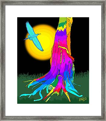 Enchanted Dream Tree Framed Print by Gerry Robins