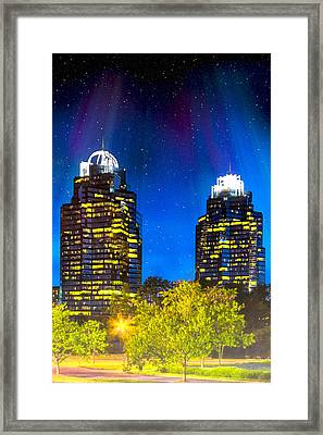 Enchanted Evening At The King And Queen Towers - Atlanta Framed Print by Mark E Tisdale