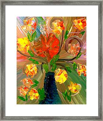 Enchanted Flowers. Framed Print by Pretchill Smith