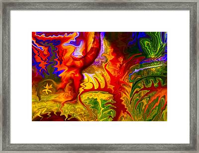 Enchanted Forest Fire Framed Print by Omaste Witkowski