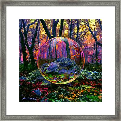 Framed Print featuring the painting Enchanted Forest by Robin Moline