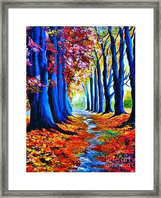Enchanted Forest Framed Print by Ryszard Sleczka