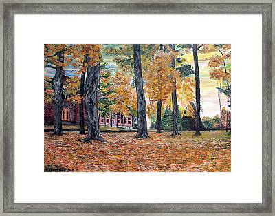 Enchanted Forrest In The Fall Framed Print by Denny Morreale
