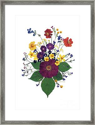 Enchanted Garden Big Bouquet Framed Print by Kathie McCurdy