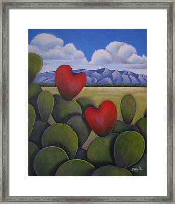 Enchanted Hearts Framed Print