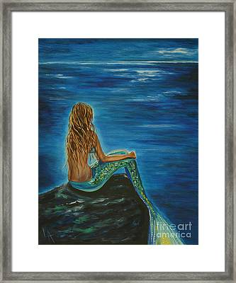 Enchanted Mermaid Beauty Framed Print by Leslie Allen