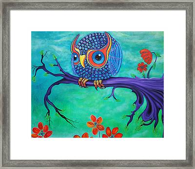 Enchanted Owl Framed Print by Laura Barbosa